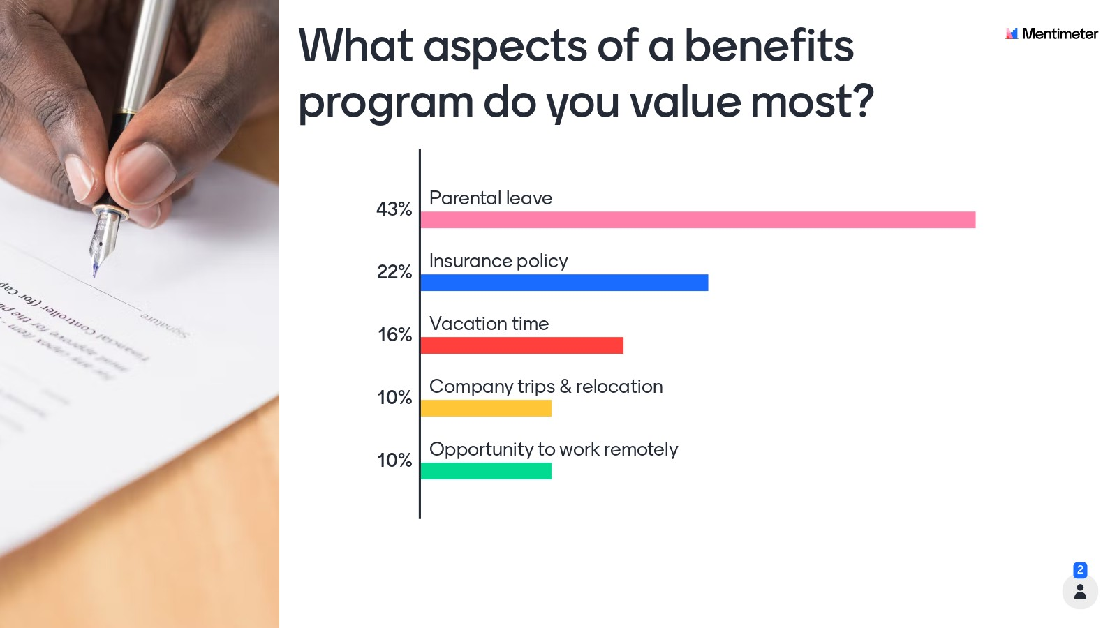 What aspects of a benefits program do you value most?