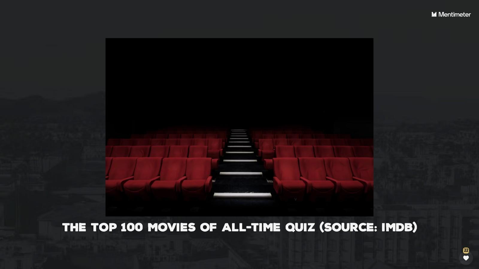 The Top 100 Movies Quiz