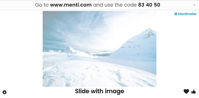 Slide with image